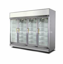 スーパーマーケットのガラスドア商用ディスプレイ冷蔵庫