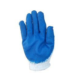 Le Bleu des gants de latex lisse enduits industriels pour les pieds