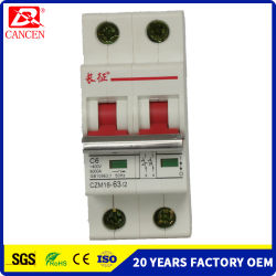 6KA Alta Capacidad de ruptura L7 MCB Tipo 1A-63A 1p-4p Directa de Fábrica RoHS aprobado CE CCC TUV personalizada UL es aceptable plena espiral de cobre, plata MCB Contacto