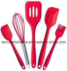 Vente chaude d'Amazone un silicone Utemsils de vaisselle de cuisine de silicone de corps