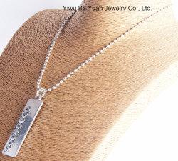 De manier Gestempelde Antieke Zilveren Met de hand gemaakte Halsband van de Tegenhanger van de Ketting van de Bal