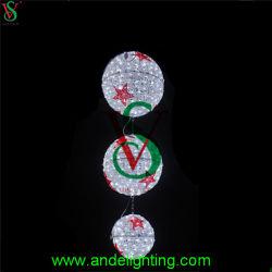 LED personalizados em acrílico 3D Luz Motif, Luzes de rótula de suspensão de Natal
