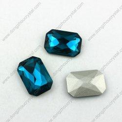 Coração pedras de vidro cristal de vidro azul de jóias de fantasia preço grossista de Pedra