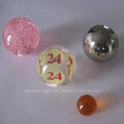 Dimension de haute précision de la résine acrylique claire de l'artisanat de précision les billes utilisées comme des accessoires