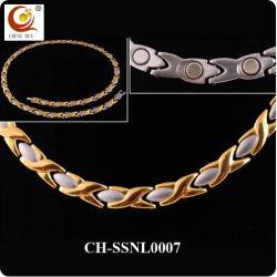 Два тона позолоченный магнитный титан ожерелья