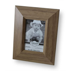 Natural antico Wood Pattern PS Photo Frame per Home Decoration