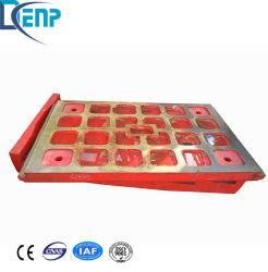 Zerkleinerungsmaschine-Abnützung-Platte, Zwischenlage-Platte, Abnützung-Zwischenlage-Mangan-Gussteil