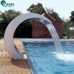 プールのための鉱泉装置のステンレス鋼の滝