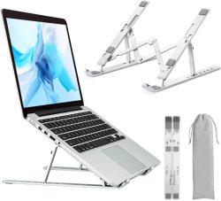 """Suporte de laptop portátil de alumínio ajustável suporte do computador tablet suporte dobrável ergonómico Suporte para notebook portátil para Mac MacBook Pro Air, a Lenovo, computador portátil HP, 10-15"""""""