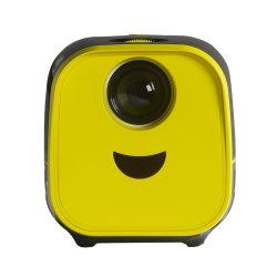 Lien L1 Home Multi-Funactional familiares 1080P portátil de bolso Kids apresenta Amarelo Preto Barato Mini Projector LED