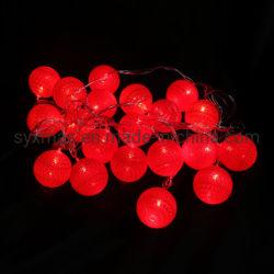 Natal luz de LED String com decorações de Esferas