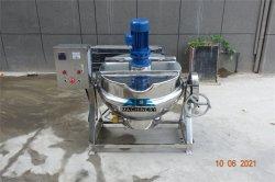 RVS Stee Automatische stoom/Electrical/LPG Gas Verwarming Industrie fruit/Jam/voedsel kantelbaar Dubbel Waterkoker met jackets en mengjas voor roerwerk