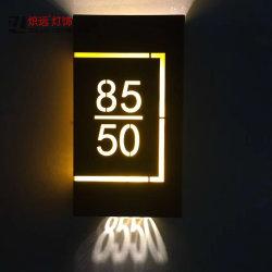 Aangepaste van het LEIDENE van Guestroom van het Hotel Doorplate van de Zaal van de Lamp Aantal van de Deur Verlichting