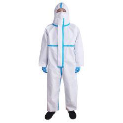Vestuário de protecção pessoal descartáveis desgaste de protecção com roupões de isolamento de Vedação