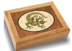 Holz Art Lizard Box - Handmade USA - unvergleichliche Qualität - einzigartig, keine zwei sind gleich - Original Werk von Holz Art. Ein Lizard Geschenk, Ring, Trink-oder Holz Schmuck B
