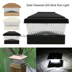 Для использования вне помещений на солнечной энергии светодиодный индикатор Post деки с видом на сад площади ограждения ландшафт лампы