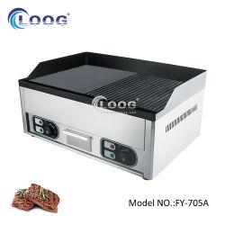 二重バーナーの電気溝があるグリドルの屋外BBQの台所装置のための普及した軽食機械ステンレス鋼のデスクトップのグリルのガス