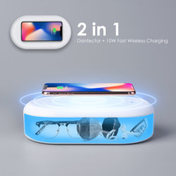 LED boîte stérilisateur UV Téléphone UV Sanitizer UVC stérilisateur à LED avec chargeur sans fil