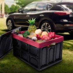 55L / 52 Quart de plástico durável caixas empilháveis dobra os recipientes para armazenamento e organização