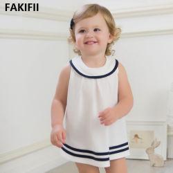 2021 أحدث تصميم مخصص العلامة التجارية الصيف نمط القطن اللباس لبنت صغيرة