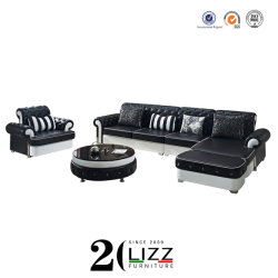 Diseño de interiores Muebles de Chesterfield sofás de cuero 123