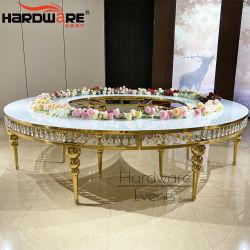 Partie de l'événement haut de la moitié de verre clair de lune Mariage cristal Table à manger