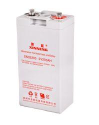Batería recargable de plomo ácido de batería AGM solar de 2V200AH Solar/Viento/almacenamiento