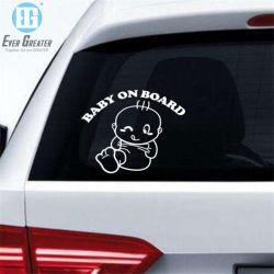 Refective 차 스티커 사랑스러운 편지 자동차 안전 경고 Windows 스티커 검정 백색 아기 차 스티커