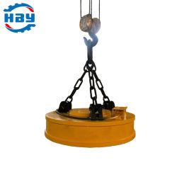 رافعة كهرومغناطيس كهربائية سعة 10 أطنان لكرات الصلب/مغريات الصب/صفائح الفولاذ التعامل مع السيارة