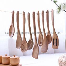 Рис выложите лопаты посуда для приготовления пищи с длинной рукояткой деревянные лопаты лопата овощей домашних хозяйств в кунжутном масле ложкой,