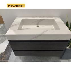 Moi le Cabinet de la Chine moderne blanc du Cabinet de contreplaqué de stockage importante salle de bains meuble vasque avec évier - Chine vanité, Cabinet de courtoisie