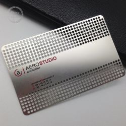 OEM Custom en acier inoxydable Nom d'affaires de la carte d'aluminium métallique