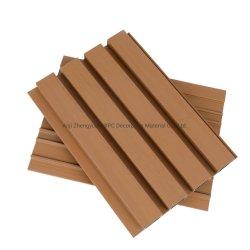 Revestimento de parede exterior Co-Extrusion 3D em relevo composto de madeira plástica WPC tapume as placas de painéis