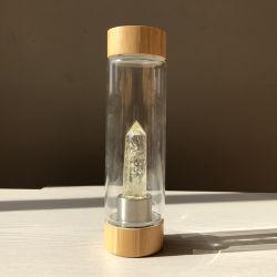 Оптовая торговля эликсир исцеления природного кварца Magic Gem камня низкое энергопотребление хрустальное стекло бутылка воды 2020/ драгоценных камней точек Crystal стеклянная бутылка воды