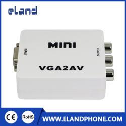 Elandphone HDTV Mezclador de audio y vídeo ABS 5V de alimentación Cable USB Cable VGA a RCA AV Converter