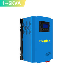Techfine 1 kVA 3 kVA 2 kVA 4 kVA 5 kVA 6 kVA off onduleur sur réseau 24v faible fréquence d'onde sinusoïdale pure puissance onduleur solaire