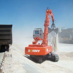 트레인 배 바지선에서 석탄을 내리는 선적을%s 아름다운 석탄 언로더 물자 취급 기계장치