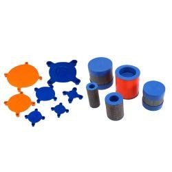 Hoogwaardige ANSI JIS GB aangepaste UV-resist LDPE-plastic stekkers Bedekt de beschermkappen voor pijpflenskleppen