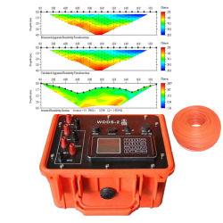 شاقوليّة كهربائيّة يصوّر مقاومية عدّاد [أوندرغرووند وتر] مكشاف مع [2د] نتيجة تجهيز جيوفيزيائيّ