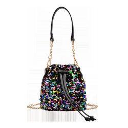 2021 Femmes Sac à bandoulière de la chaîne de Sequin Fashion Simple Mini sac de godet de pompage de la vente des produits à chaud