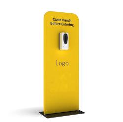 Dispensador de jabón portátil de la exposición de la publicidad pop-up soporte de pantalla Touchless el lavado de manos