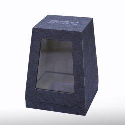 Diseño Rfy Caja de cartón con ventana de corte Perfume acrílico fijo de caja de papel