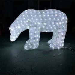 3D Acryl Bär Motiv Lichter Skulptur für Chroistmas