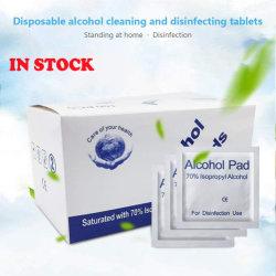 Medizinisch-Grad, steril, Einzeln-Eingewickelt gesättigt mit 75% Äthanol-Spiritus-Wischer für externen Gebrauch