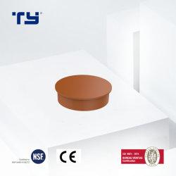 물은 배관공사 정가표 제조자 PVC-U 엔드 캡에 주황색 플라스틱 배수장치 관 이음쇠이라고 상표를 붙인다