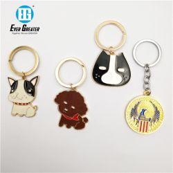 Горячая продажа сделайте подарок для продвижения пяти указал собака образной металлической цепочки ключей