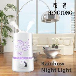 Regenbogen-Nachtlicht-moderner Entwurfs-Ultraschallbefeuchter, 1.5L mit wasserlosem Schutz