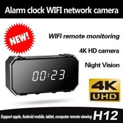 새로운! 4K WiFi IR 야간 시계 움직임 안전 자명종 Nanny 사진기 DVR