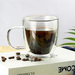 Double paroi en verre borosilicaté tasse de thé, expresso, tasse de café