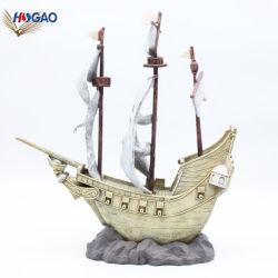 ホーム装飾のハンドメイドの置物の船の樹脂の航行モデル
